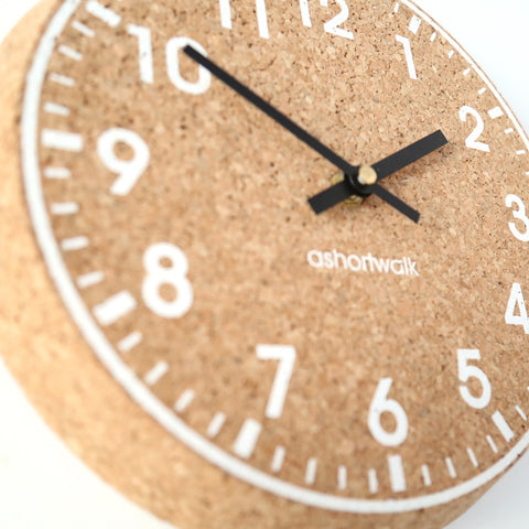 sustainable cork clock