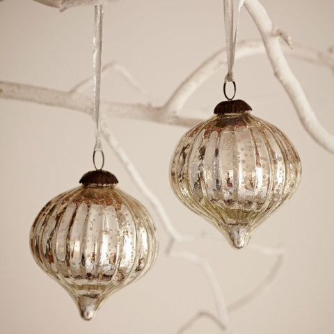 Large Fairtrade Recycled Glass Bauble pair
