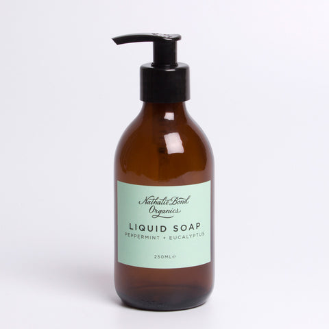 natural liquid soap peppermint and eucalyptus