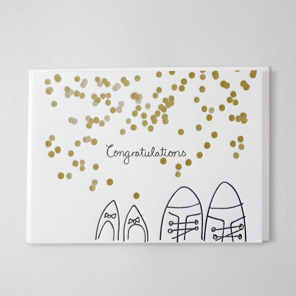 wedding shoes eco greeting card