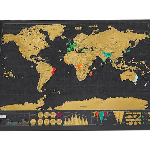 Vintage Scratch Off Travel Map