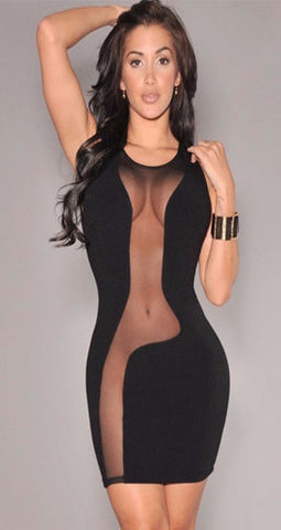 Pure Illusion Sheer Bodycon Dress