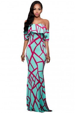 Mint Printed Maxi Dress