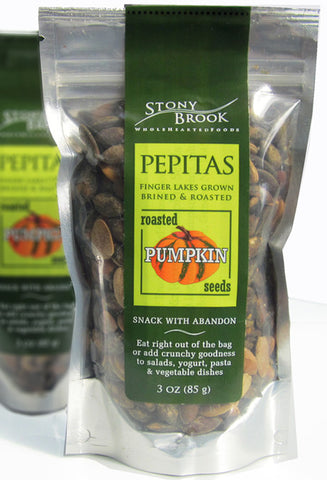 Pepitas, Roasted Pumpkin Seeds - 3oz