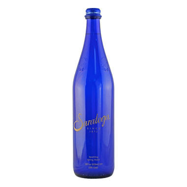 Saratoga Spring Water, Sparkling - 28oz, Glass 12 count case