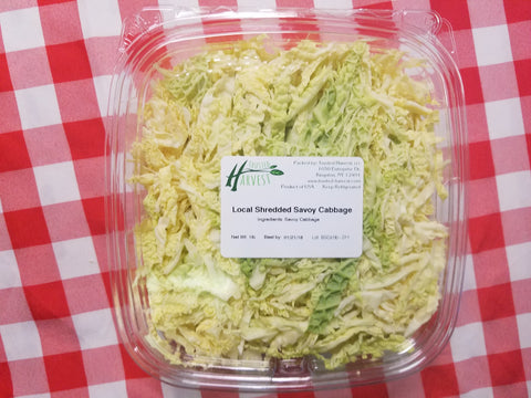 Shredded Savoy Cabbage - 1 lbs, Trusted Harvest