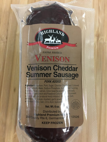 Venison and Cheddar Summer Sausage