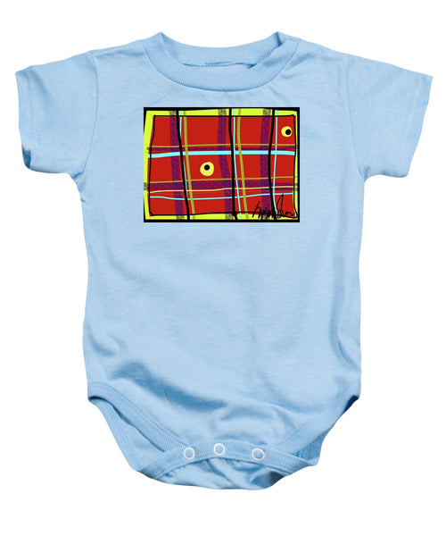 iPlaid in Memoriam of Steve Jobs - Baby Onesie