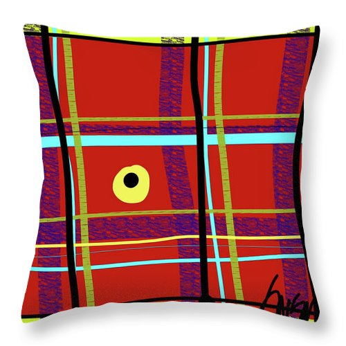iPlaid in Memoriam of Steve Jobs - Throw Pillow
