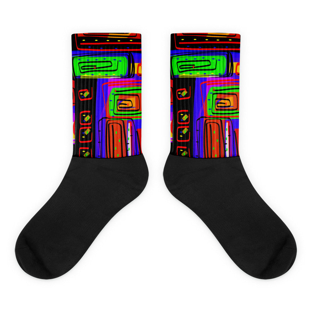 The City Looks Up Socks by Susan Fielder Art