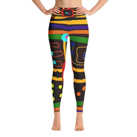 Parchoosie Yoga Leggings by Susan Fielder Art
