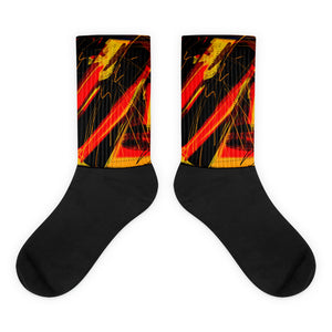 Fire in the Hole Socks by Susan Fielder Art