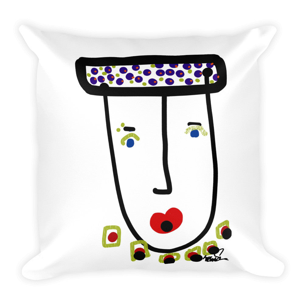 Mr. Glamour Pie, Pillow with Stuffing by Susan Fielder Art