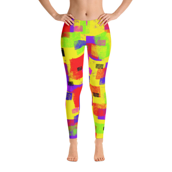 Boxed In Leggings by Susan Fielder Art
