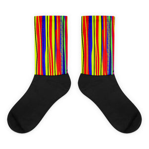 Striped Out socks by Susan Fielder Art