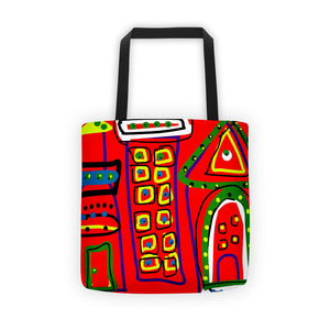 Little House on the Prairie Tote Bag by Susan Fielder Art