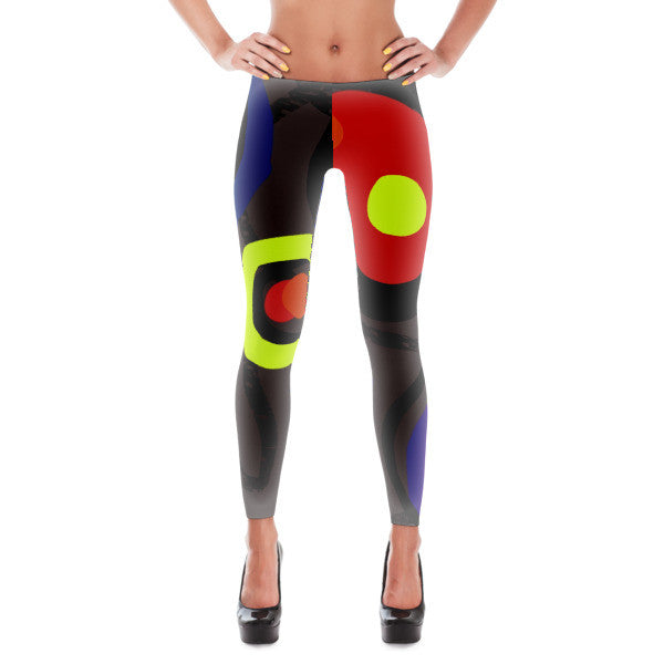 Puzzled in a Pool of Thought, Leggings by Susan Fielder Art
