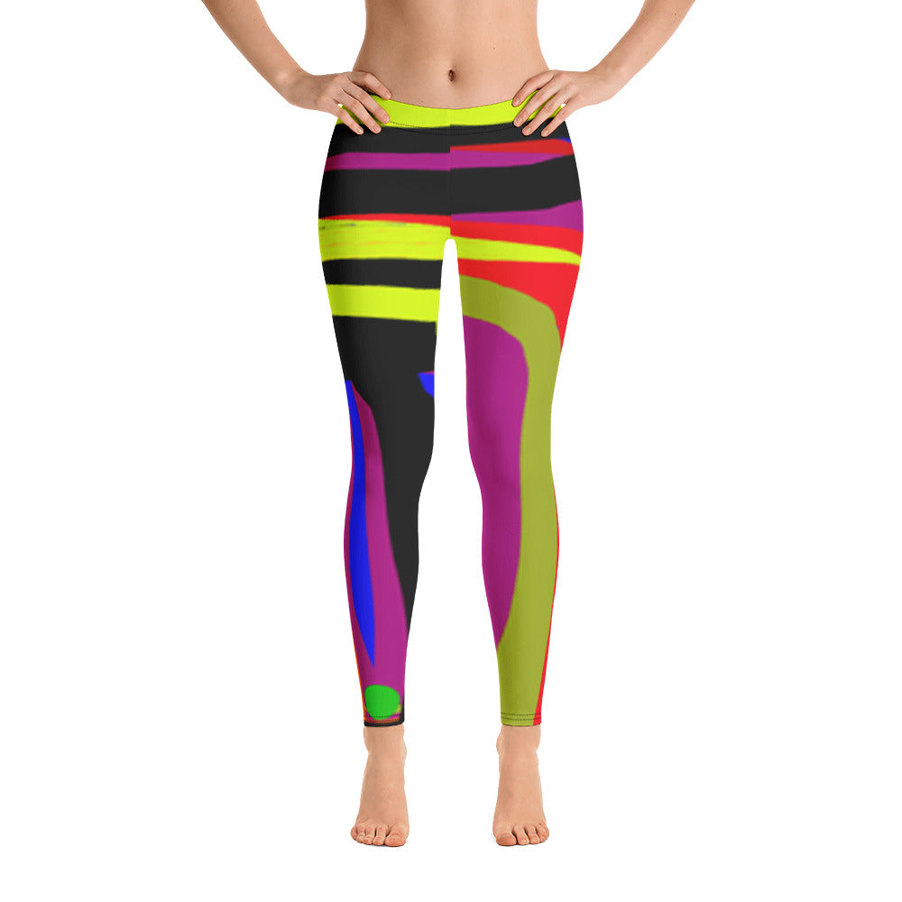 Line Up Leggings by Susan Fielder Art