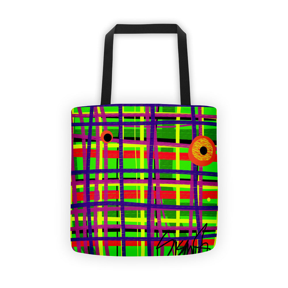 Eyes on the Grid, Tote bag by Susan Fielder Art