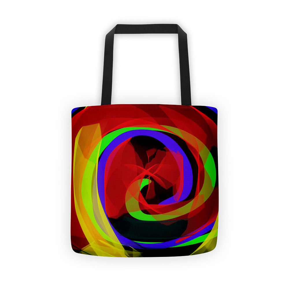 Infinity Ribbons Wrap It's Arms Around You Tote Bag by Susan Fielder Art