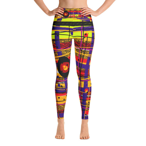 Hundertdotters Yoga Leggings by Susan Fielder Art
