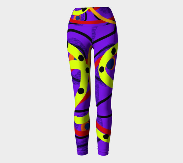 Peaceful Passion Yoga Pants by Susan Fielder Art created for Dan Mears