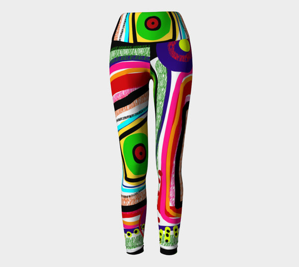 Easter Eyes Yoga Leggings by Susan Fielder Art