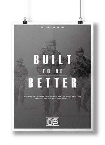 "Poster ""Built To Be Better"""