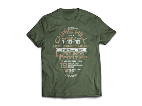 Chris Hill Memorial WOD Fundraiser Shirt