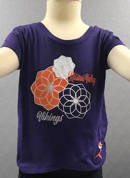 Missouri Valley Girls Tee--Colosseum Soft Tee Purple with Valley Logo