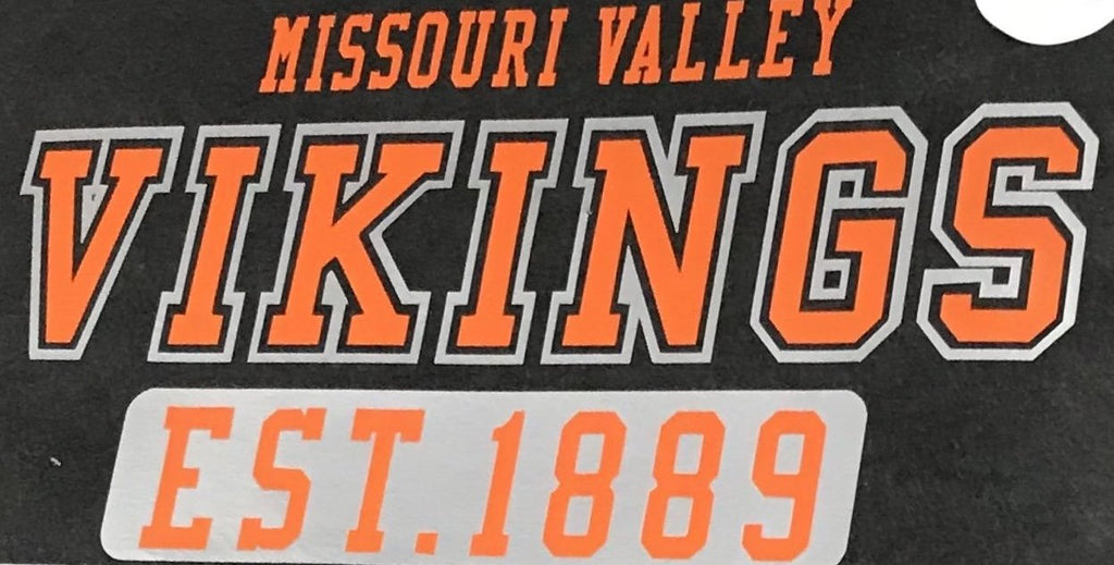 #62 Print--Missouri Valley Vikings Est. 1889 Orange