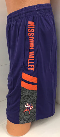 Missouri Valley Men's Shorts--Colosseum Purple with Missouri Valley on Side