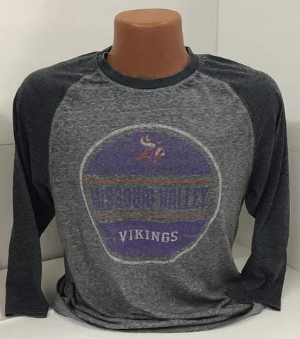 Missouri Valley Men's 3/4 Sleeve Colosseum T-Shirt