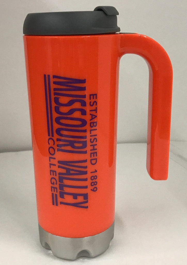 Missouri Valley Accessories--Orange Travel Mug w/Missouri Valley