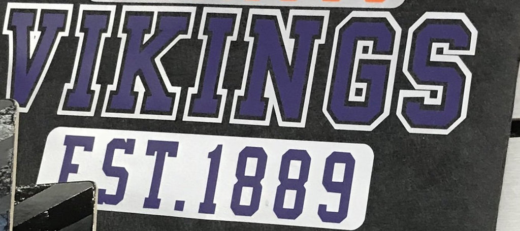 #63 Print--Missouri Valley Vikings Est. 1889 Purple