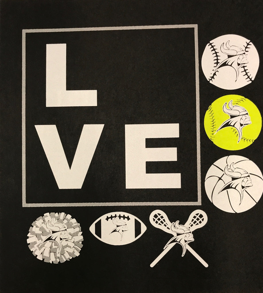 #55A Print Transfer--Love with Sports For Crewneck Sweatshirts