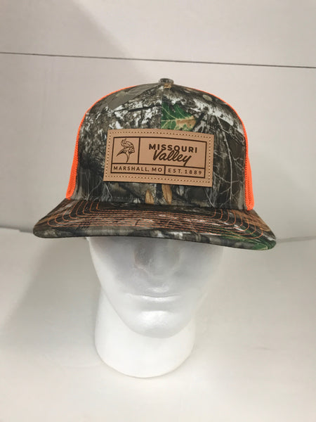 Missouri Valley Hat--Richardson Mesh Snap Back with Leather Patch