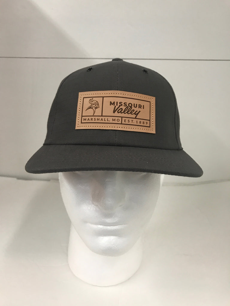 Missouri Valley Hat--Richardson Cotton Adjustable hat with Leather Missouri Valley Patch