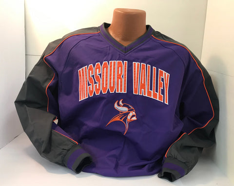 Missouri Valley Men's Pullover--Colosseum V-neck Pullover with Valley Logo
