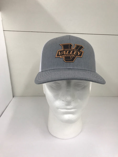 Missouri Valley Hat--Richardson Mesh back adjustable hat with leather V patch