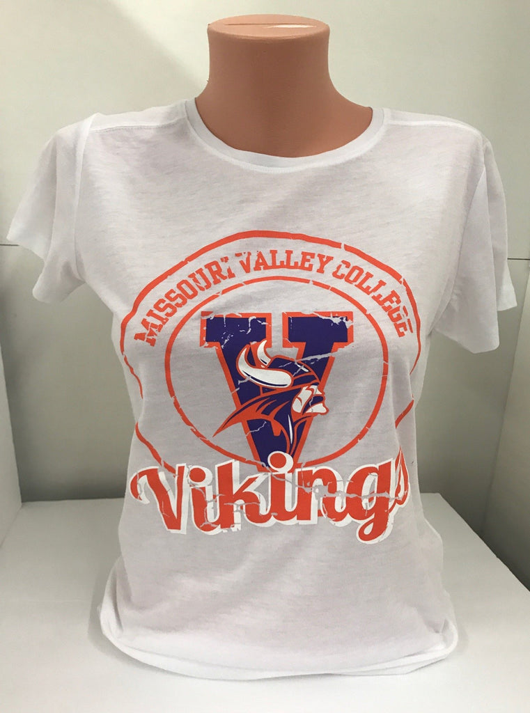 Missouri Valley Ladies soft tee with Valley Logo