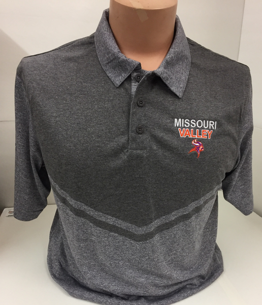 Missouri Valley Men's Polo--Holloway Purple or Grey with Valley Logo