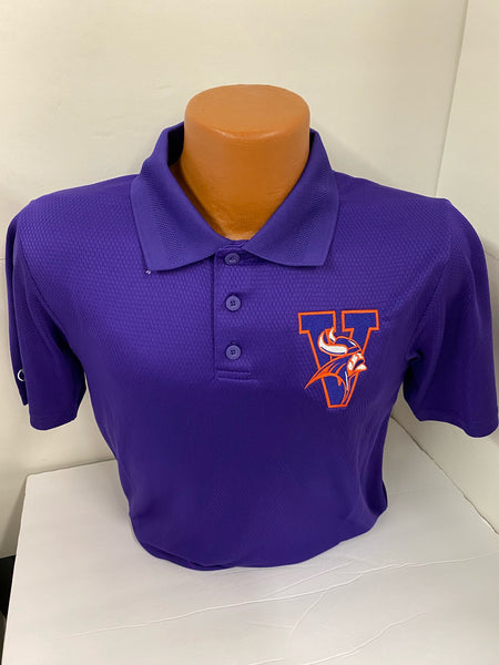 Missouri Valley Ladies Polo--Holloway with Viking Head Left Chest