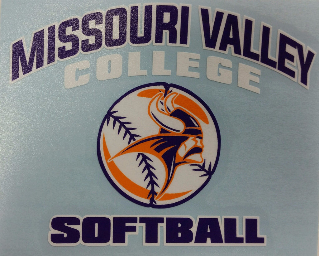 Missouri Valley Decal--Softball