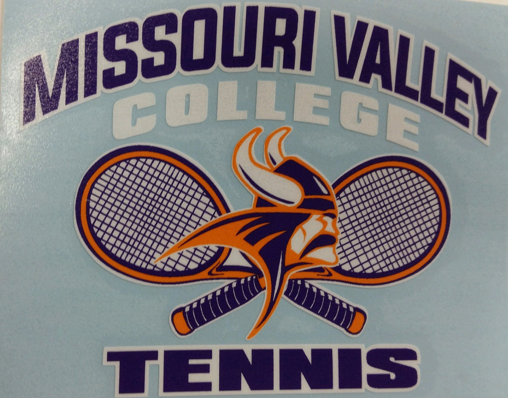 Missouri Valley Decal--Tennis