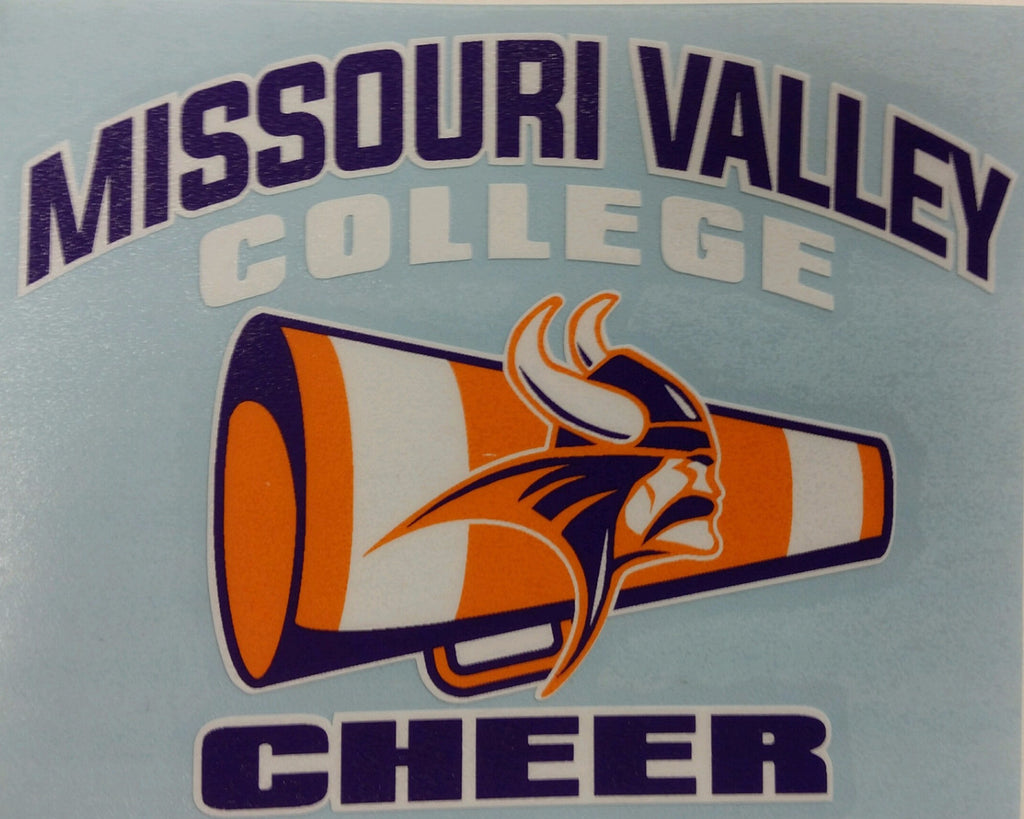 Missouri Valley Decal--Cheer