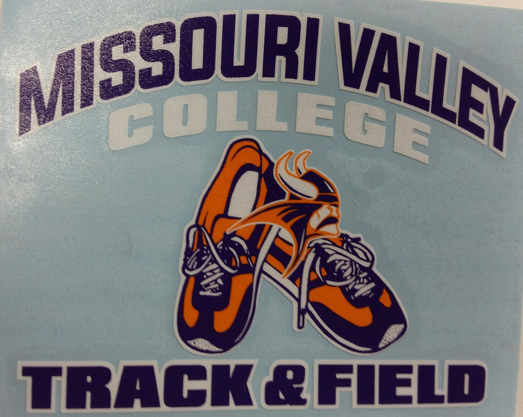 Missouri Valley Decal--Track & Field