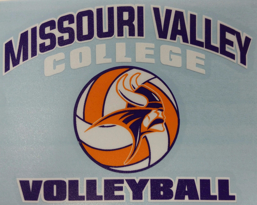 Missouri Valley Decal--Volleyball