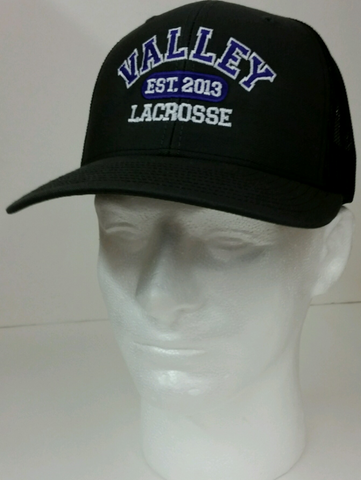 Missouri Valley Hat--Richardson Lacrosse Charcoal with Black Mesh Snapback