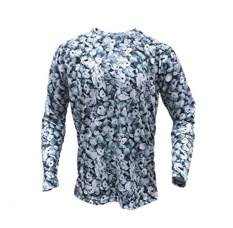 performance micro poly fishing shirts. Oyster camo beach shirt